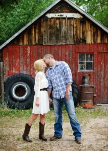 rustic cabin wedding photo